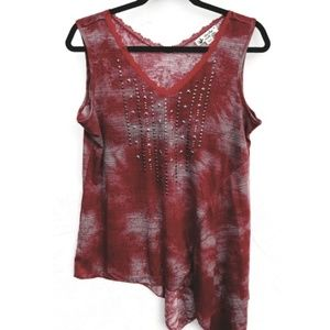 Unity World Wear Red Top embellished